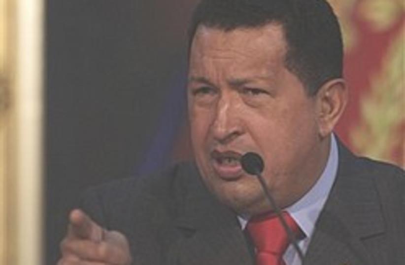 Chavez points finger 248.88 (photo credit: )