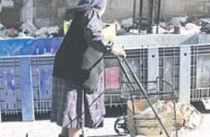homeless woman 248.88 (photo credit: Ariel Jerozolimski)