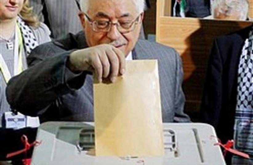 abbas votes 248 88 ap (photo credit: AP)