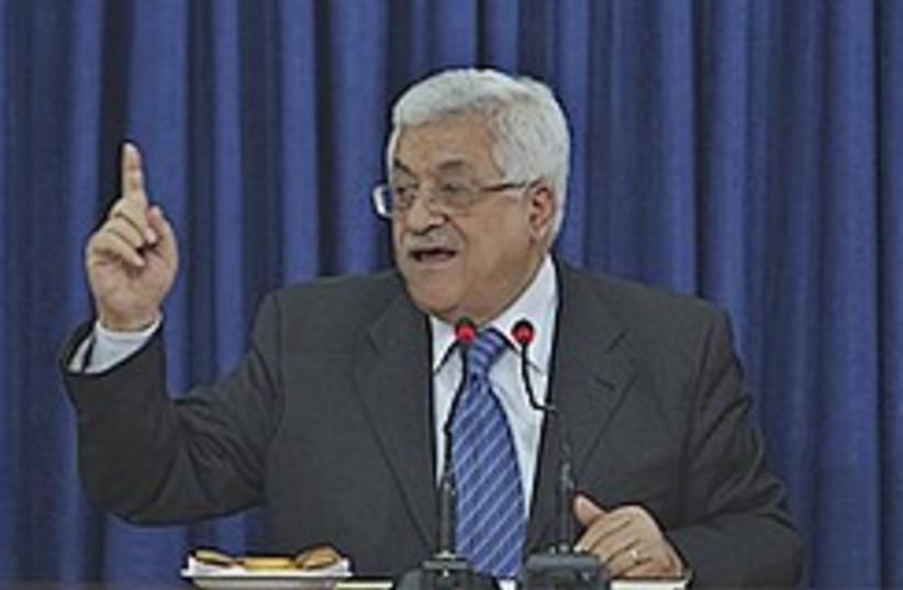 Abbas waves finger 248.88 (photo credit: AP [file])
