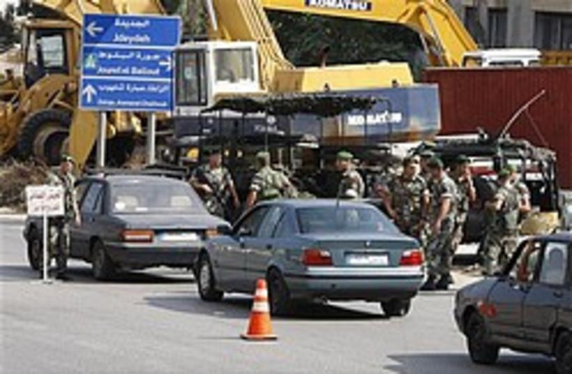 lebanon checkpoint 248 88 ap (photo credit: AP)