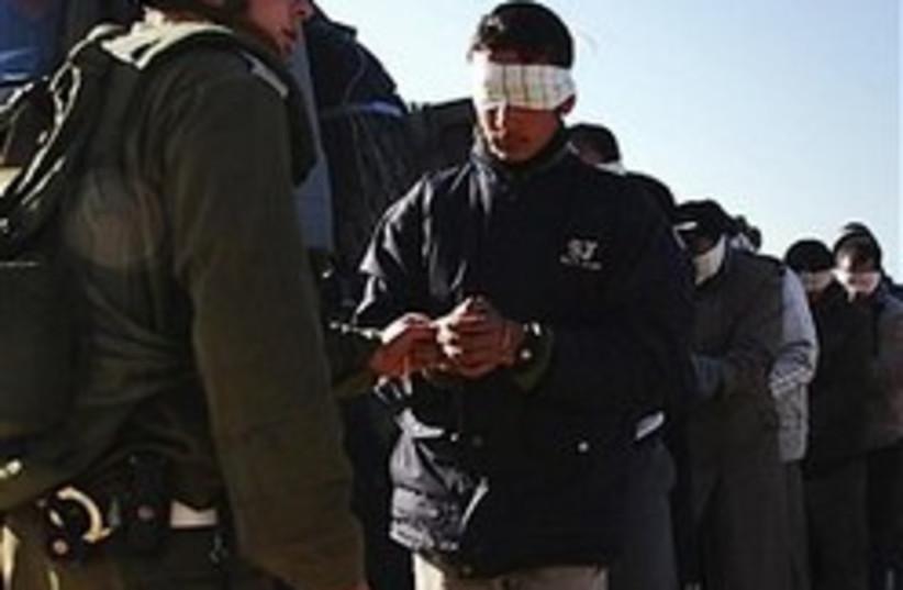 troops gaza arrest 248.88 (photo credit: AP [file])