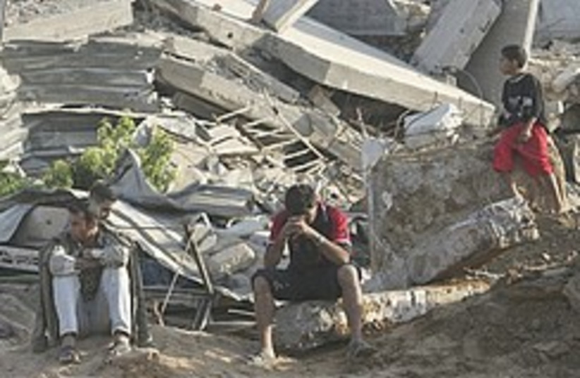 Gaza smuggling tunnel rubble 248.88 (photo credit: )