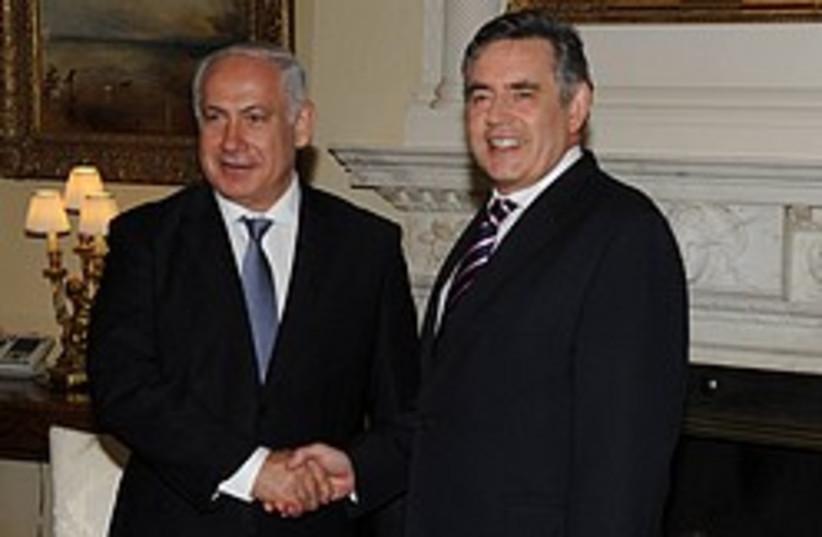 netanyahu brown 248 88 gpo (photo credit: Amos Ben Gershom GPO)