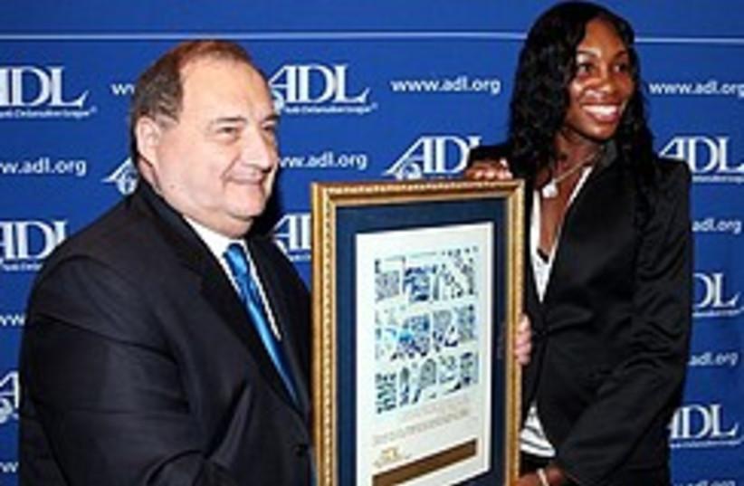 Venus Williams ADL Award 248.88 (photo credit: )