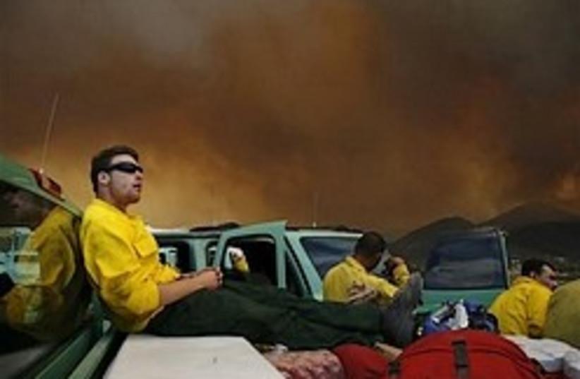california wildfire fire 248.88 ap (photo credit: AP)