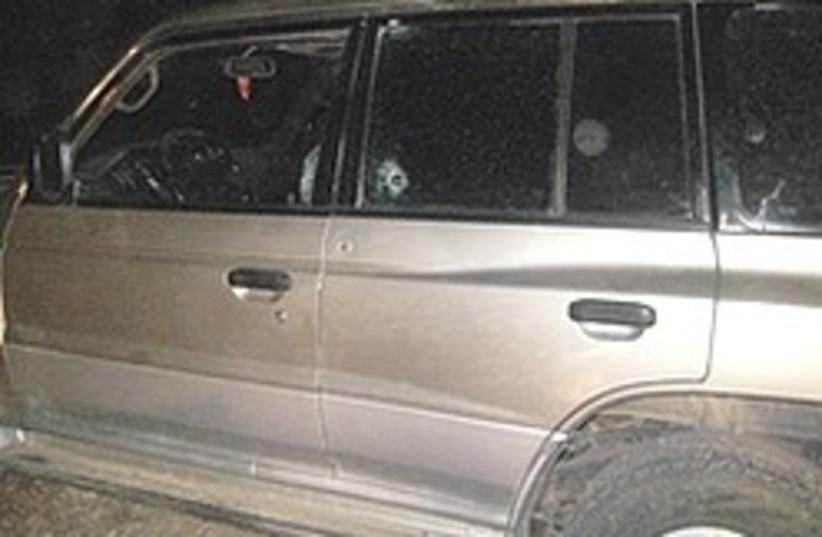 car bullet holes ben nun 248 (photo credit: Yossi Yempel / Zaka)