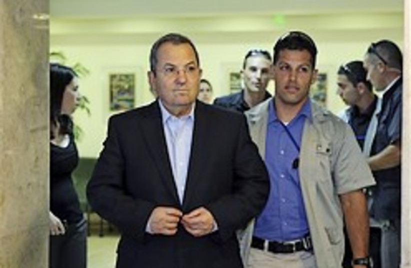 ehud barak serious 248.88 (photo credit: AP)