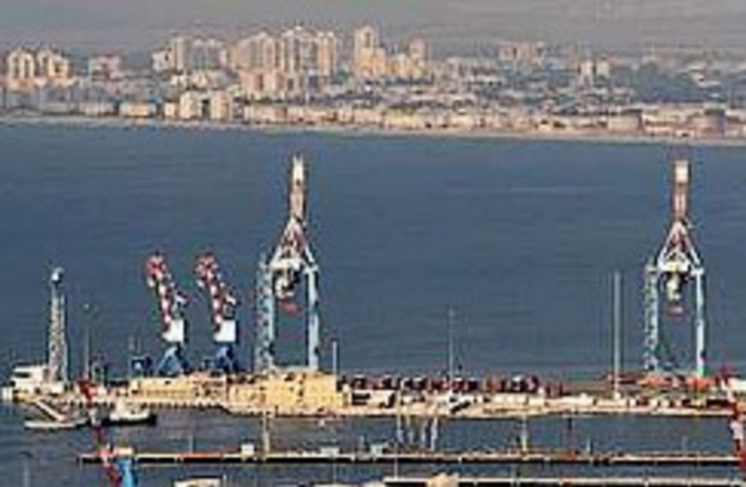 Haifa port 248.88 (photo credit: Ariel Jerozolimski)