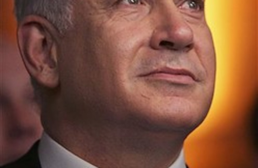 Netanyahu the holy 248.88 (photo credit: AP)