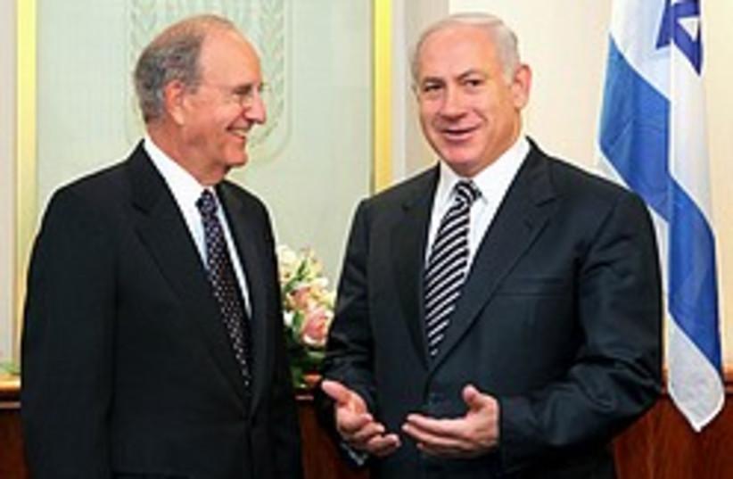 mitchell and netanyahu 248.88 (photo credit: )