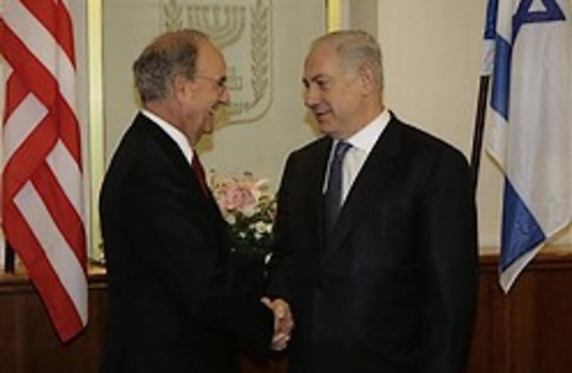 netanyahu mitchell shake hands 248 88 (photo credit: )