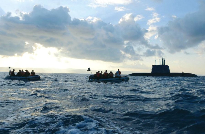 The Dolphin-class submarine first entered service in 2000 (photo credit: IDF SPOKESMAN'S UNIT)