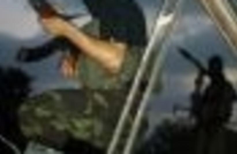Hamas, with gun AP 88 (photo credit: )