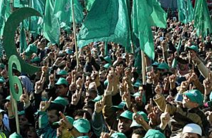 hamas supporters 2 298 (photo credit: AP)