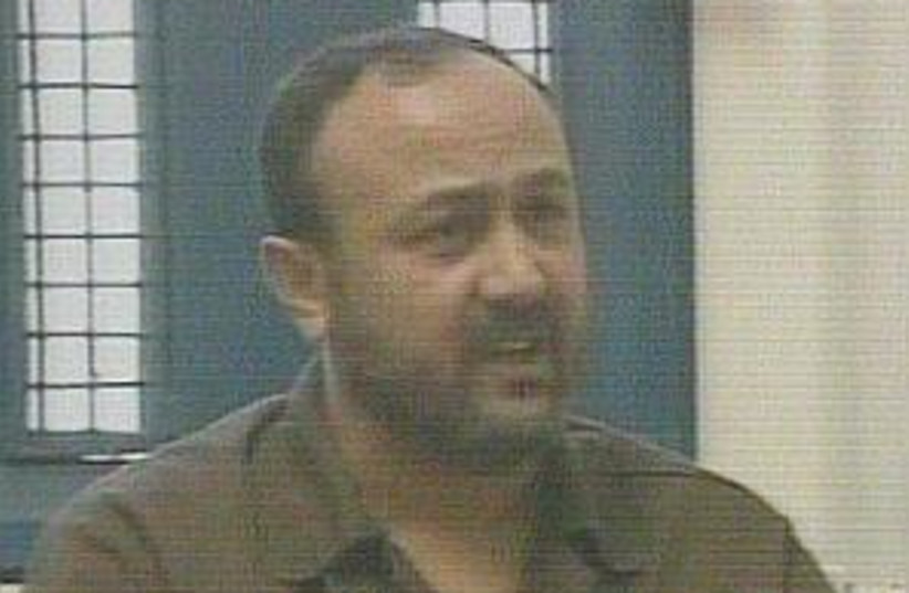 barghouti from prison  (photo credit: Channel 2 [file])