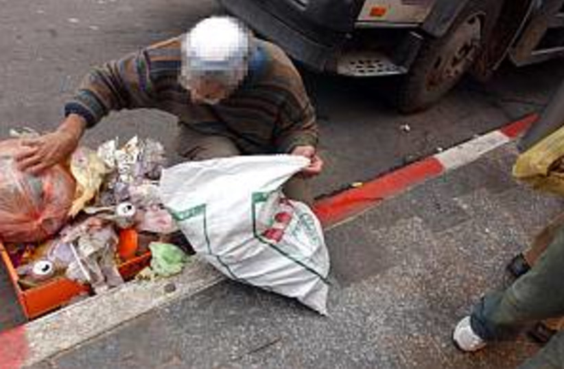 poor man poverty 298 (photo credit: Ariel Jerozolimski)