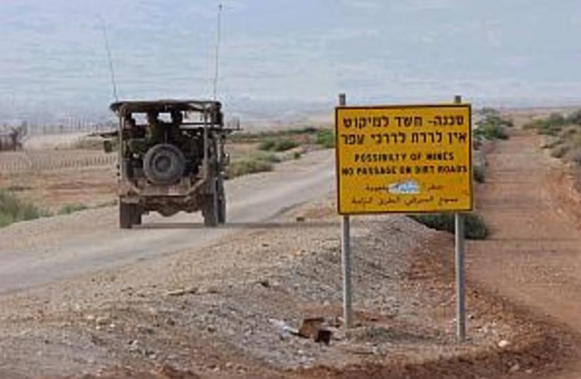 jeep patrol jordan line  (photo credit: Ariel Jerozolimski)