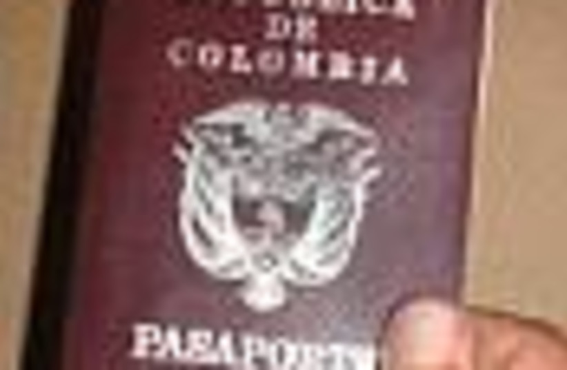 colombian passport 88 (photo credit: )