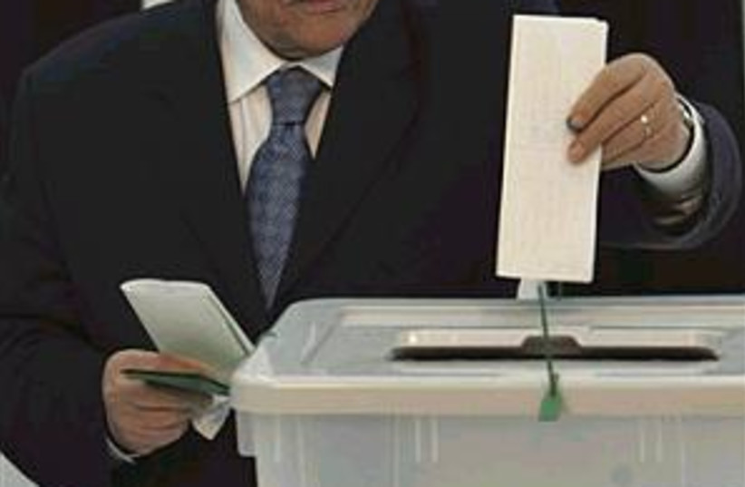 abbas voting 298.88 (photo credit: Associated Press)