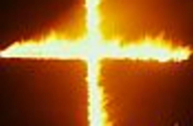 burning cross 88 (photo credit: )