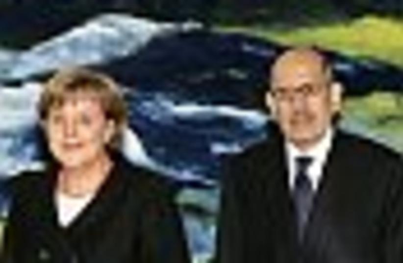 merkel and ElBaradei 88 (photo credit: )