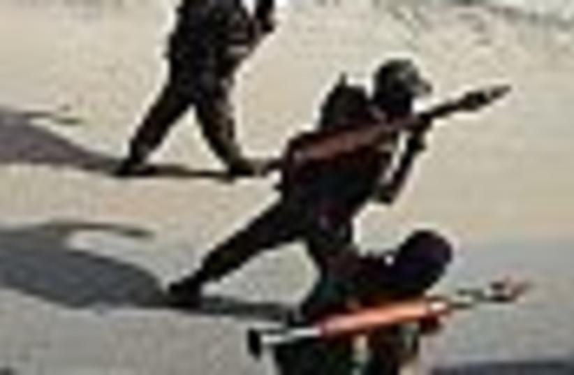 gunmen with rockets (photo credit: )