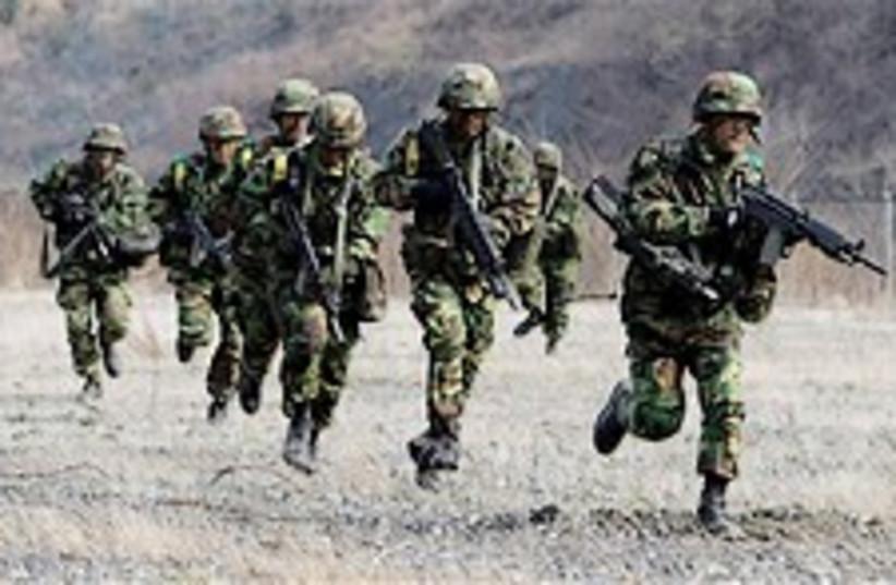S Korean soldiers 248.88 (photo credit: AP)
