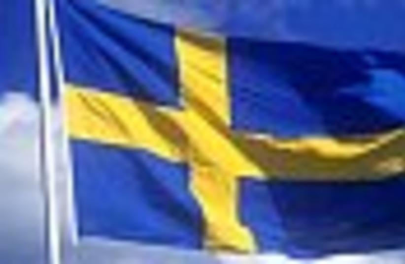 swedish flag waving 88 (photo credit: )