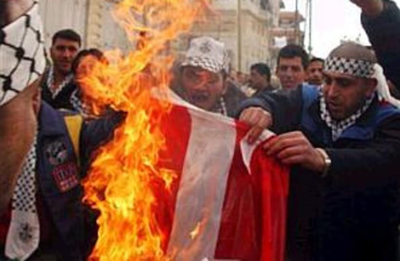 danish flag burns 298 (photo credit: AP [file])