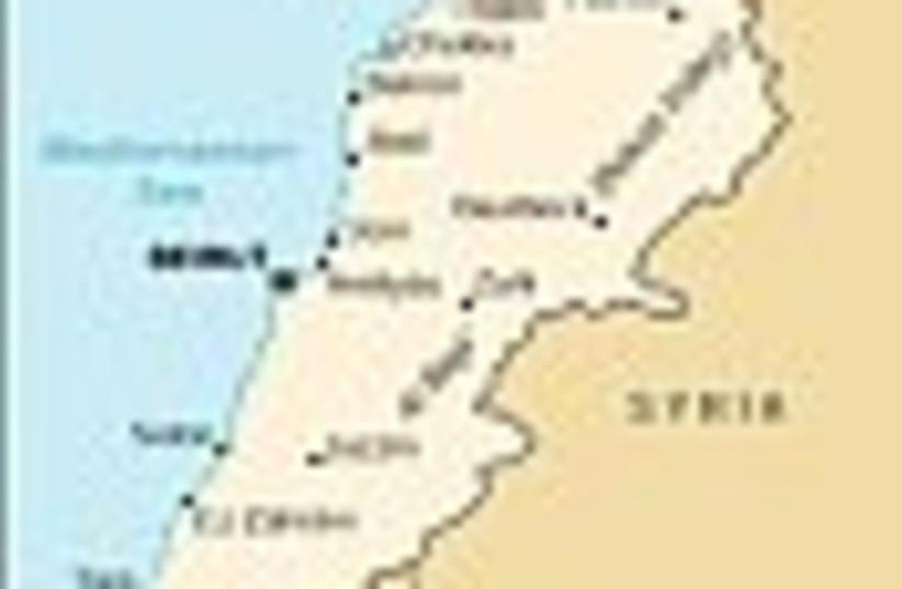 lebanon syria map 88 (photo credit: )