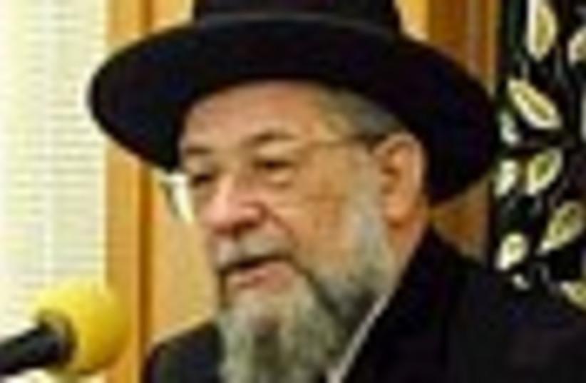 rabbi yisraelmeir lau 88 (photo credit: )