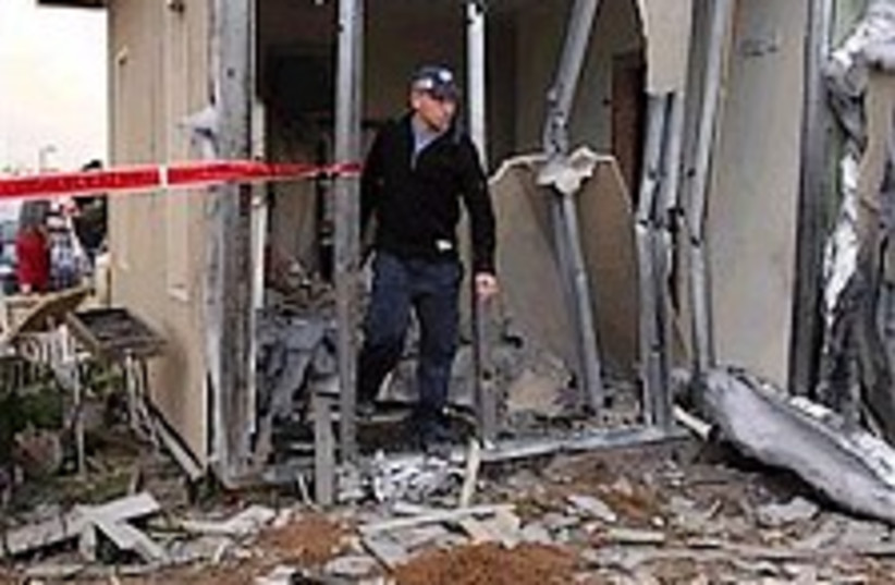 kassam damage 298 (photo credit: AP)