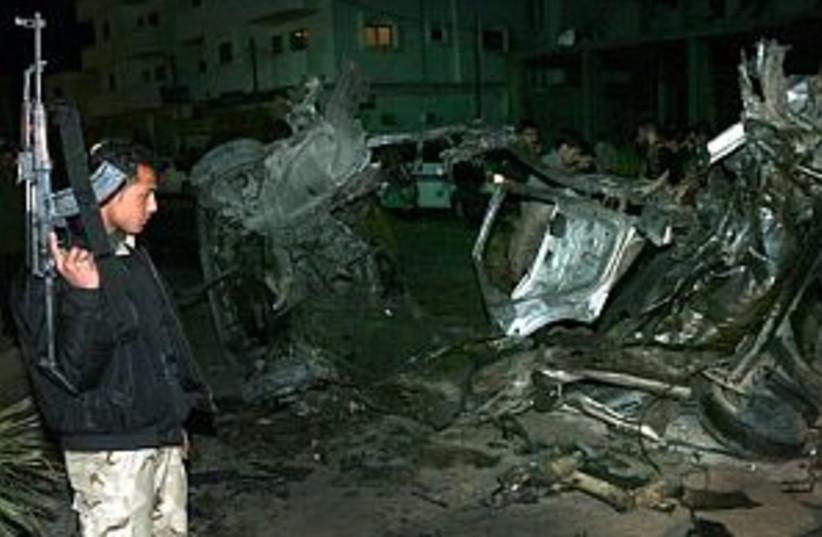 gaza airstrike 298 88 ap (photo credit: AP [file])