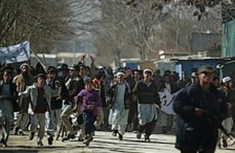 afghan cartoon riot 224. (photo credit: AP [file])