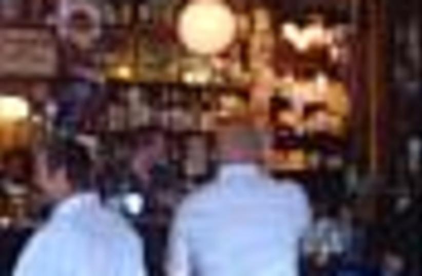 men drink at bar 88 (photo credit: )