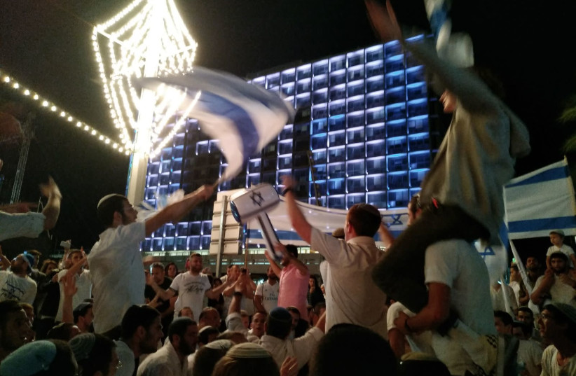 Celebrations at Rabin Square in Tel Aviv for independence day. Indep (photo credit: EITAN COHEN/TPS)