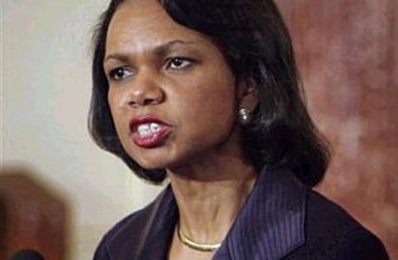 condoleezza rice 298 (photo credit: AP [file])