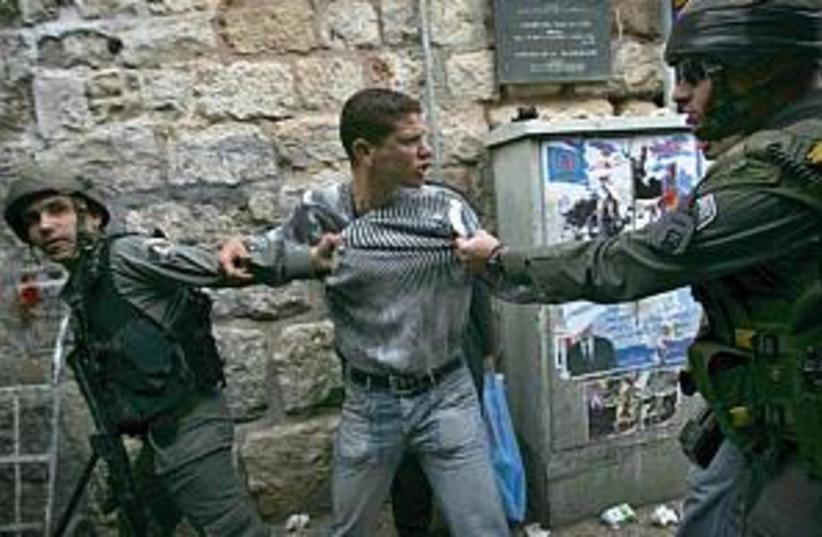 police hold e. jerusalem (photo credit: AP [file])