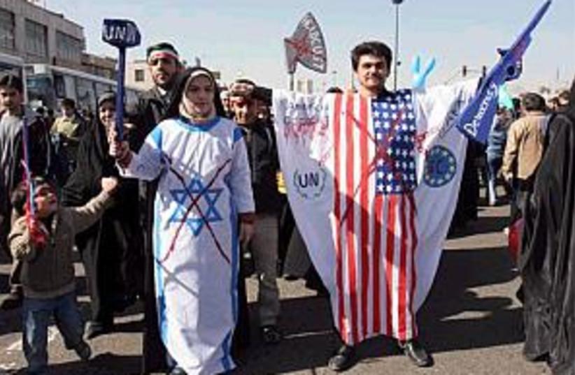 anti israel and US in Ir (photo credit: AP [file])