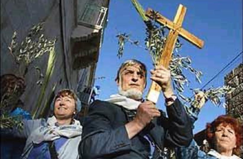 mt olives procession 298 (photo credit: AP [file])