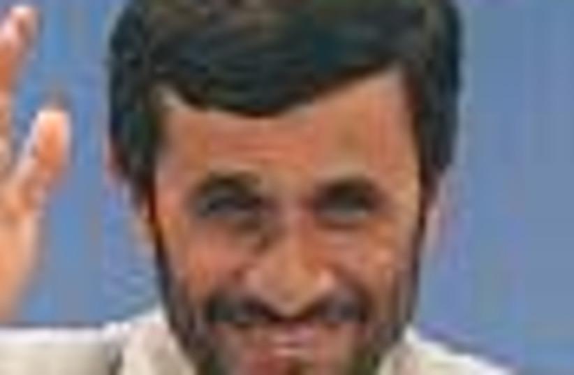 ahmadinejad smiles 88 (photo credit: )