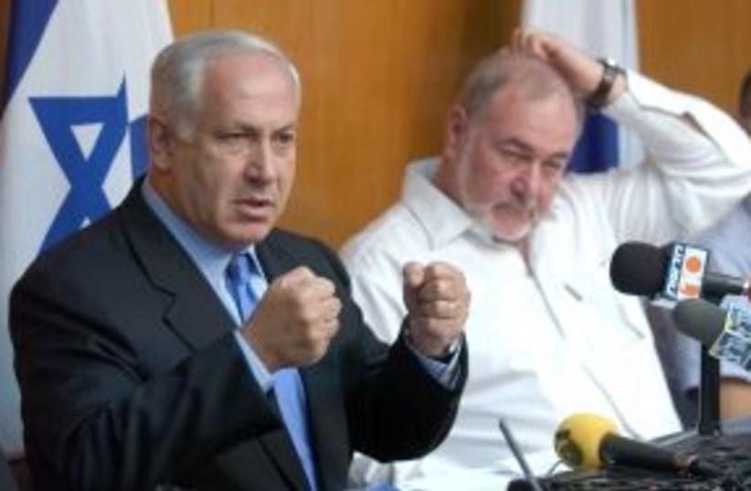 netanyahu fists 298 AJ (photo credit: Ariel Jerozolimski [file])