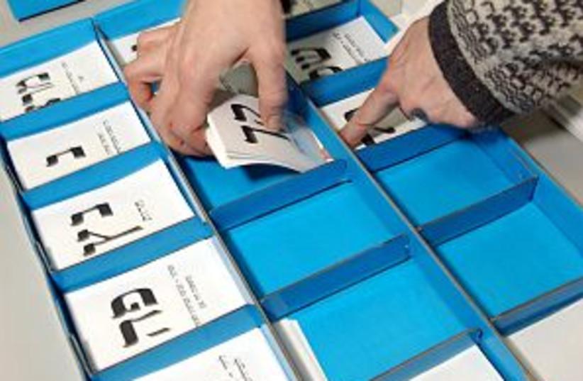 voting ballots 298 AJ (photo credit: Ariel Jerozolimski)