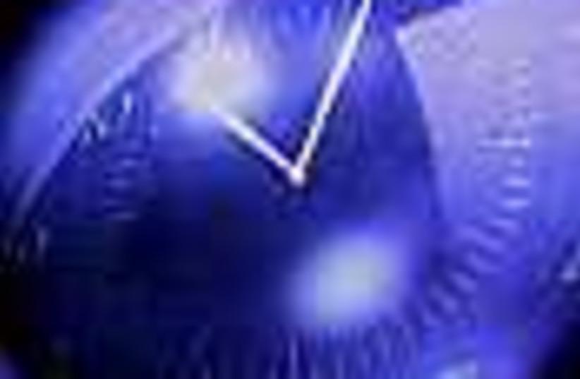 spooky purple clock 88 (photo credit: )