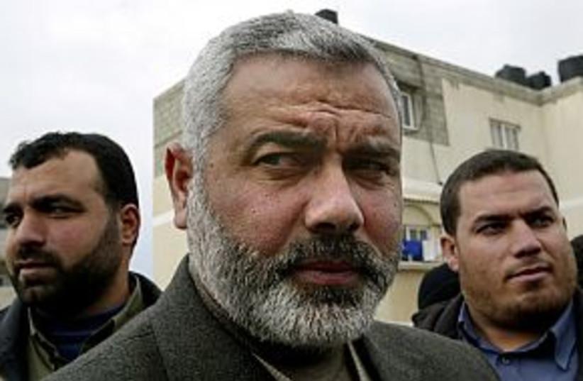 haniyeh frowning 298 88 (photo credit: AP [file])