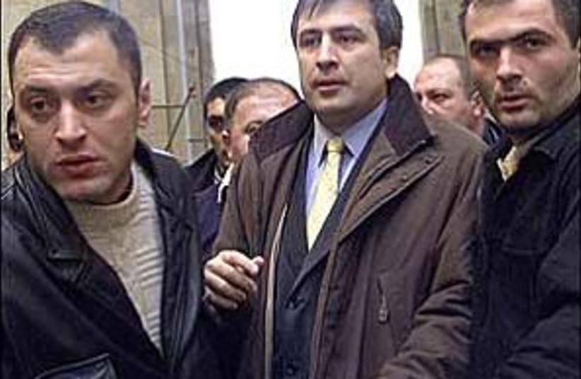 Saakashvili 298 ap (photo credit: AP)