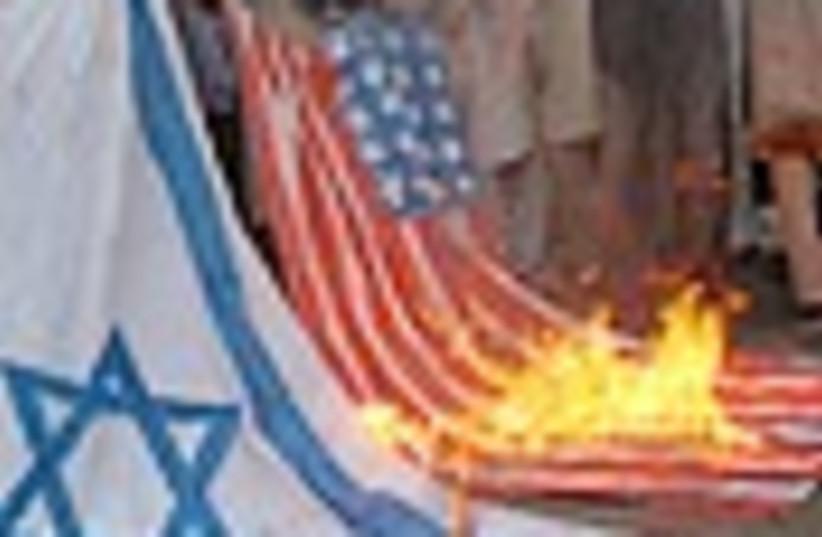 us israel flags burn 88 (photo credit: )