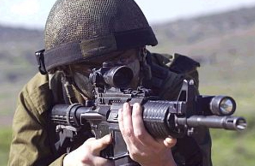 idf soldier gun298 88idf (photo credit: IDF)