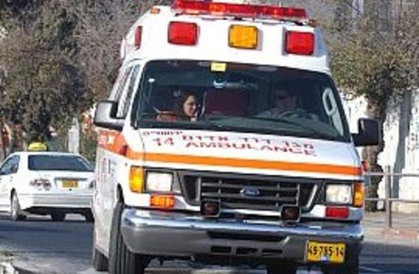 ambulance- use for pigua (photo credit: Ariel Jerozolimski)